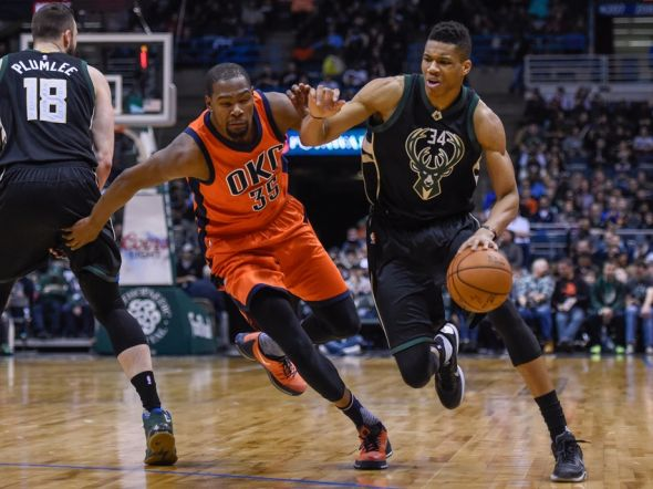NBA: Oklahoma City Thunder at Milwaukee Bucks
